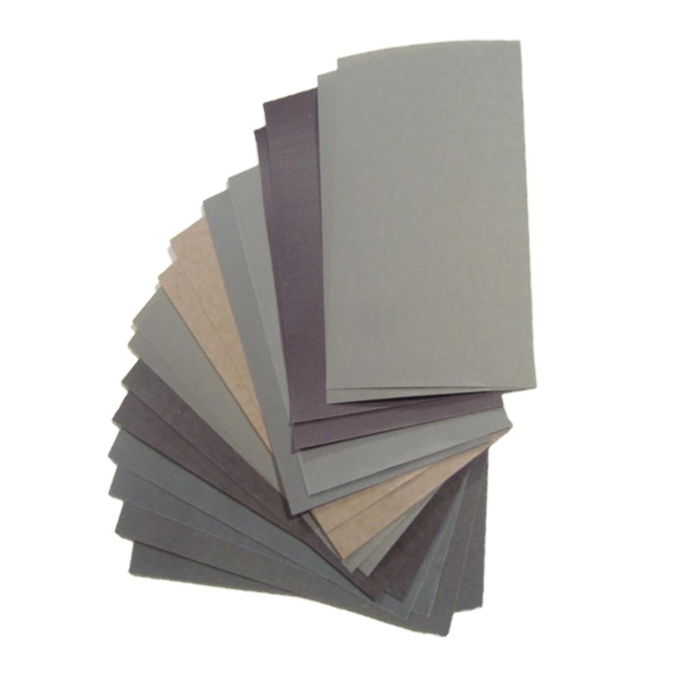 15pc/set Wet Dry Sandpaper Sheets 400 600 3000 800 1000 1200 1500 2000 2500 Grit