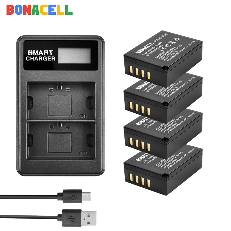 Bonacell For Fujifilm NP-W126 NP-W126S Battery + LCD Dual Charger for X-M1 X-A1 X-T1 X-E1 X-Pro2 NP W126
