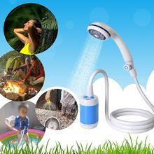 2020 nova universal lavadora de carro chuveiro conjunto portátil bomba elétrica viagem acampamento ao ar livre lavadora carro caminhadas pet washer