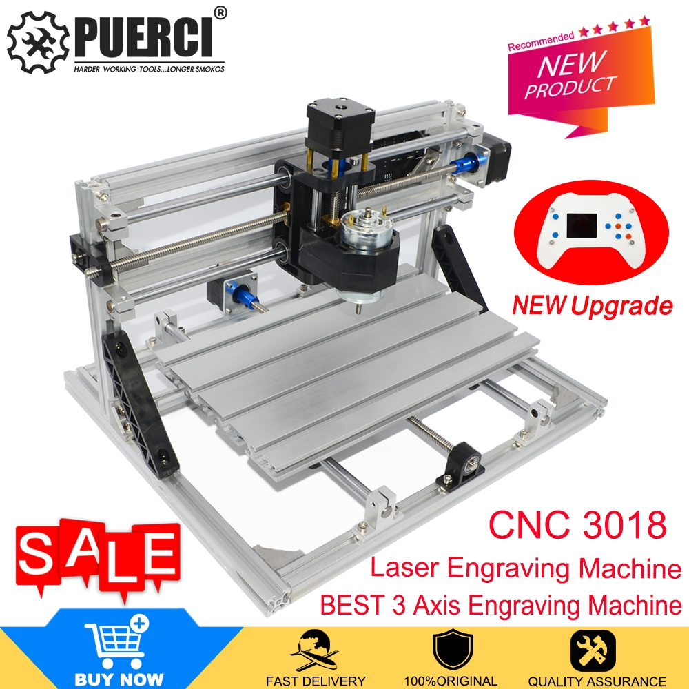 CNC 3018 Mini  Laser Engraver Wood CNC Router Machine GRBL ER11  With Offline Controller DIY Engraving Machine For Wood PCB PVC