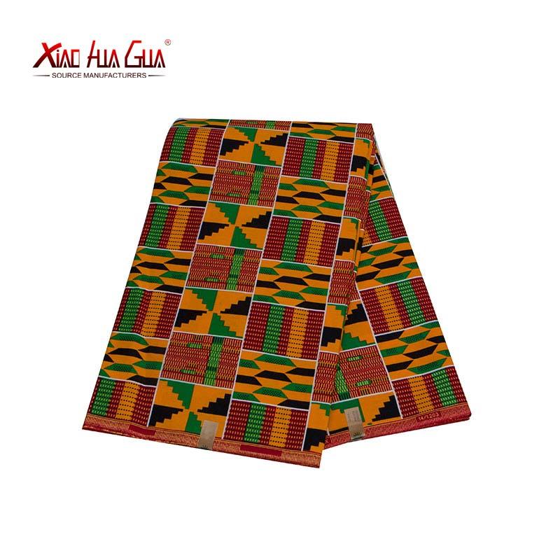 2021 Ankara Fabric XiaoHuaGua Brands African Print Kente Fabric High Quality Comfortable Cotton Sewing DIY Party Dress 24FS1380