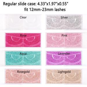 Image 5 - 40 шт./лот Профессиональный чехол накладка с держателями для полноразмерных ресниц прозрачный чехол для 3D ресниц из норки