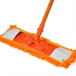 Nowe wysuwane urządzenie czyszczące z mopem minifibre zamiatarka drewniane laminowane płytki podłoga Wet Dry Orange w Mopy od Dom i ogród na