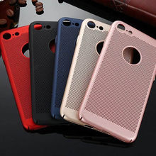 Ultra Slim Ponsel Case untuk iPhone X XS 11 Pro Max 6 S 7 7 Plus Hollow Panas Disipasi Case keras PC untuk iPhone 5 S SE Cover Coque(China)