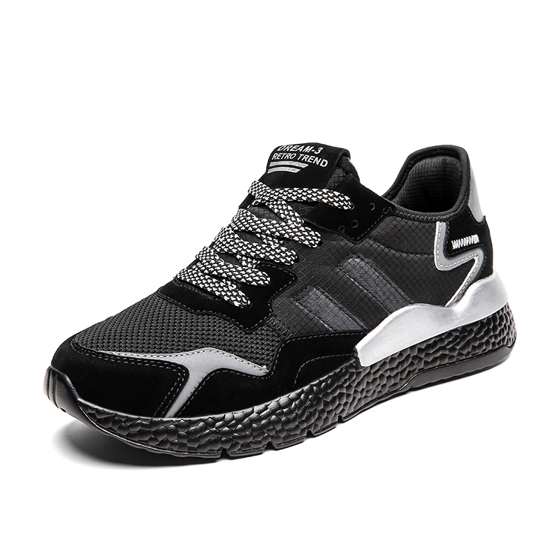New Fly Woven Lightweight Breathable Summer Men Shoes Solid Lace Up Outdoor Sports Casual Male Soft Comfortable Shoe