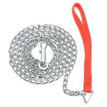 1,6 м сверхмощная металлическая цепь Собака Щенок поводок для прогулок зажим красная ручка