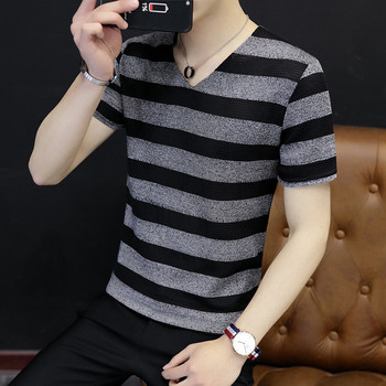 2020 new tide brand T-shirt Korean version of the self-cultivation round neck print shirt men's half