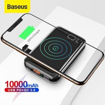 Baseus 10000mAh Qi chargeur sans fil batterie externe USB PD charge rapide Powerbank chargeur de batterie externe Portable pour téléphone 1