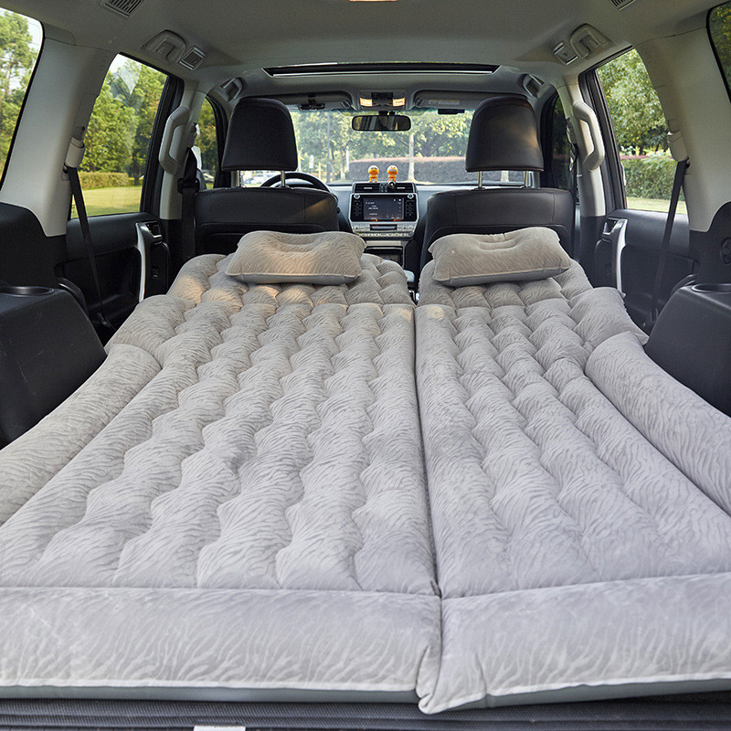 Audew 170*130CM Car Inflatable Travel Bed PVC Back Seat Cover Universal Adjustable Air Mattress Travel Bed For SUV MPV image