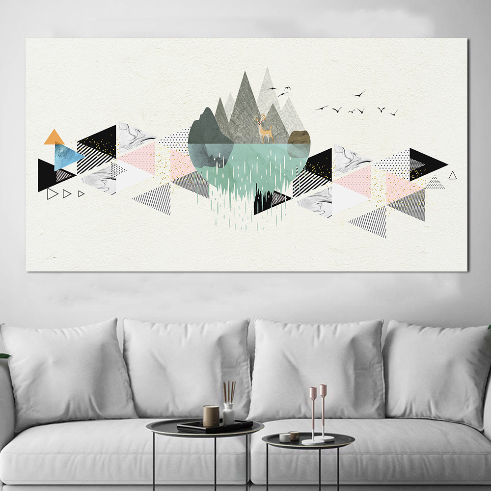Modern Art Graffiti Couple Wall Painting Poster Nordic Abstract Artist Home Decoration Frameless Canvas Poster Painting Custom