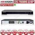 Hikvision Original NVR DS 7608NI I2/8 P 8CH 8 POE NVR für POE Kamera 12MP Max 2 SATA Netzwerk Video recorder.-in Überwachungsvideorekorder aus Sicherheit und Schutz bei