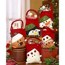 METABLE 1PCS Santa Claus Snowman Elk Penguin Christmas Candy Gift Bags
