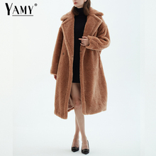 Chaqueta de peluche abrigo de piel sintética largo rojo blanco rosa abrigo de piel para mujer vintage Cuello de piel abrigo de invierno para mujer elegantes abrigos de piel peludos