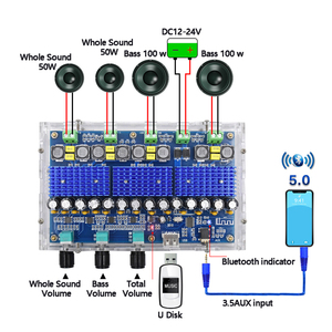 Image 1 - TDA3116D2 Bluetooth 5.0 Digital Amplifier Board Four Channel 2*100W Dual Bass 2*50W Dual Stereo Audio Amplifiers with Tone Sound