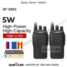 1PC o 2 uds $TERM impacto Baofeng BF-888S Walkie Talkie 888 UHF 5W 400-470MHz BF888s BF 888s H777 barato Radio de dos vías con cargador USB H-777