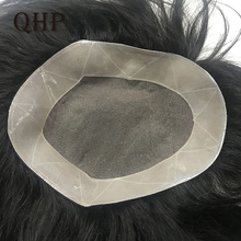 Mens Toupee Wig Hairpiece Hair-Replacement-Systems Fine-Mono Indian-Remy Human Natural