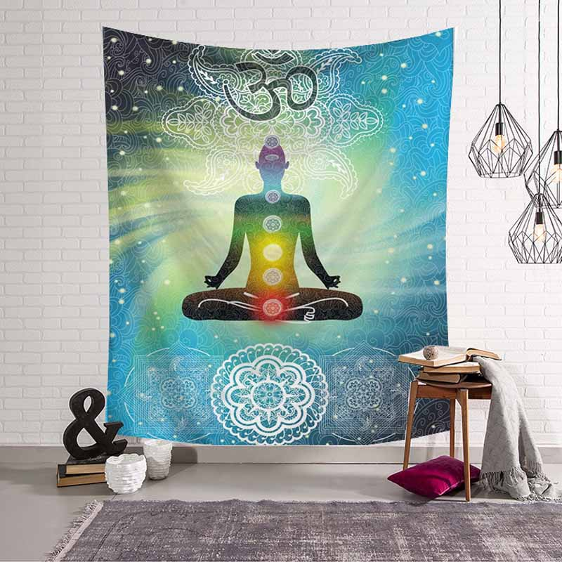 Indian Elephant Tree Mandala Tapestry Wall Hanging Hippie Wall Tapestry Witchcraft Boho Decor Psychedelic Blanket Art Curtain