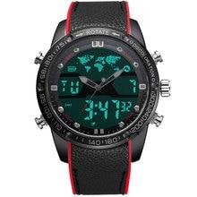 BOAMIGO erkek saatler erkekler moda spor saatler erkek kuvars LED dijital analog saat erkek su geçirmez yüzmek askeri kol saati
