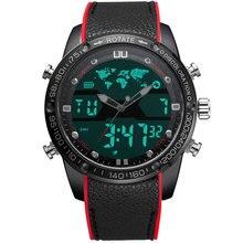 Boamigo relógios masculinos moda esportes relógios de quartzo led digital analógico masculino à prova dwaterproof água nadar militar relógio de pulso