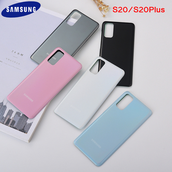 Oryginalny Samsung Galaxy S20 szkło powrót obudowa pokrywa tylne drzwi wymiana przypadku baterii tylna pokrywa dla Galaxy S 20 S20 Plus i logo tanie i dobre opinie CN (pochodzenie) glass S20 S20 plus