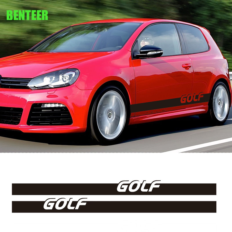 2pcs 1lot MK4 MK5 MK6 MK7 Car body <font><b>sticker</b></font> for volkswagen <font><b>golf</b></font> <font><b>6</b></font> <font><b>golf</b></font> 7 golfr <font><b>golf</b></font> 5 golf4 golf7.5 image