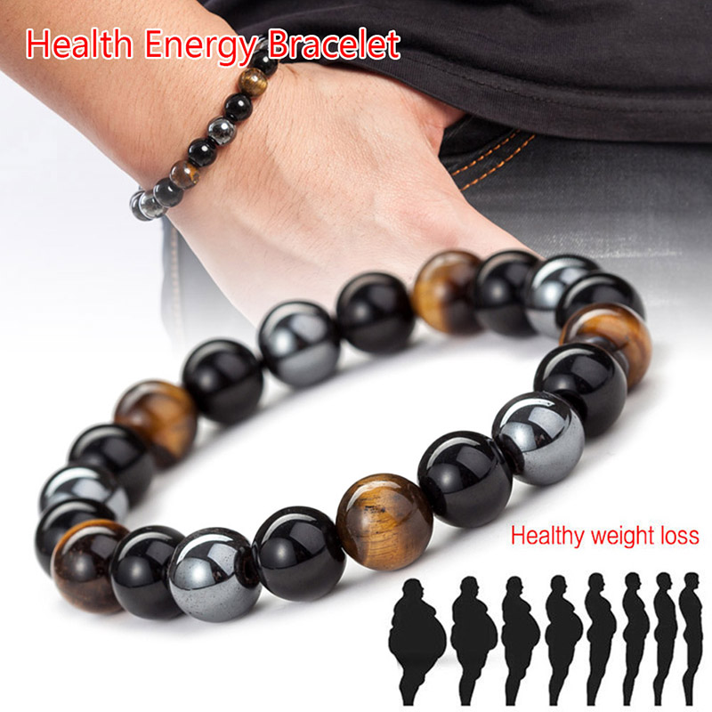 Hot Magnetic Tiger Eye Hematite Stone Bead Couple Bracelet Health Care Magnet Men Women Help Weight Loss Jewelry