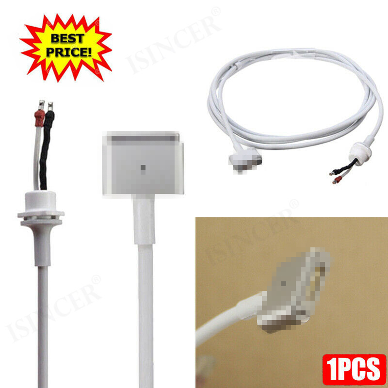 DC Connector Plug Cable Magsafe 2 White T Shape For MacBook Pro/Air 45W 60W 85W