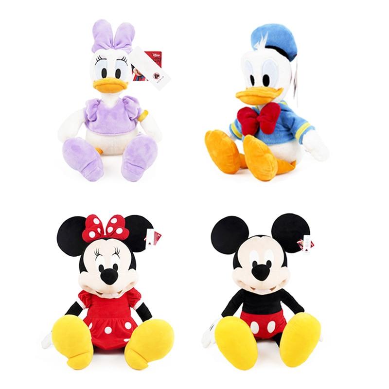 30/46cm Disney Mickey Mouse Minnie Donald canard Daisy jouets en peluche animaux en peluche poupées anniversaire cadeau de noël pour les enfants