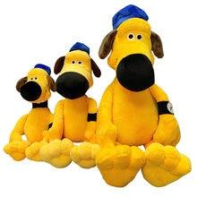 Alta qualidade filme dos desenhos animados brinquedo de pelúcia pastor amarelo bitzer parceiro macio recheado boneca para o presente