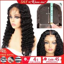 Brazilian 4X4 Lace Closure Wig Deep Wave Wig Human