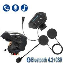Гарнитура для мотоциклетного шлема T2 Bluetooth 4,2 CSR, беспроводная BT рация, стерео гарнитура с микрофоном