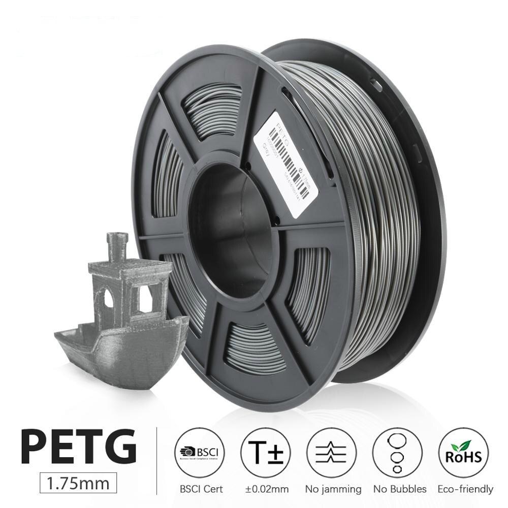 PETG 3D Printer Filament 1 75mm 1KG roll Translucence PETG Filament Plastic 3d Printing sublimation Materials