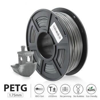 PETG 3D Printer Filament 1.75mm 1KG/roll Translucence PETG Filament Plastic 3d Printing  sublimation Materials Fast Shipping petg 3d printing filament 1 75mm 1kg 2 2lb petg 3d printer filament dimensional accuracy 0 02mm translucence refill red