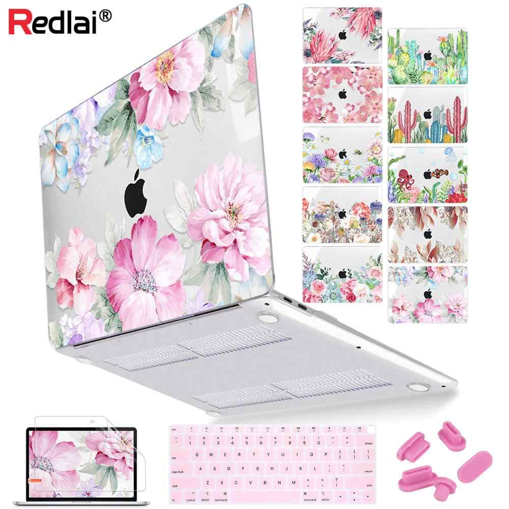 Voor Macbook Air 13 Inch A1932 Case 2020 A2179 Cover Bloem Print Laptop Case Voor Macbook Pro 13 16 Touch bar A2141 A2159 A2289