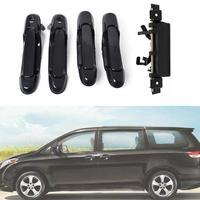 Otomobiller ve Motosikletler'ten Dış Kapı Kolları'de HiMISS 5 adet kapı kolları dış ön arka sol sağ bagaj kapağı kolları Toyota Sienna için