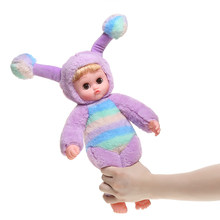2019 New Toys Plush Animal Bee Baby Doll Pinching Her Leg Ear Can Stand Up Function Toys With PoP Music silicone baby doll gift(China)