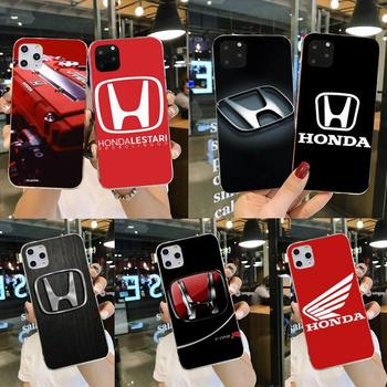 Honda car logo Painted Phone Case for iPhone 11 pro XS MAX 8 7 6 6S Plus X 5S SE 2020 XR cover image