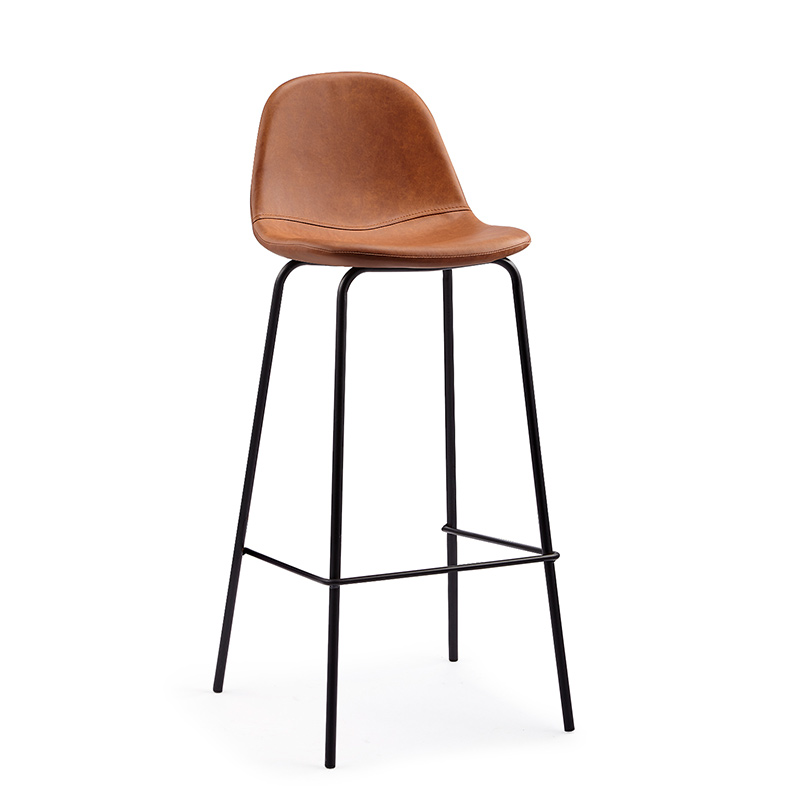Nordic Bar Stools, Simple Industrial Style, Creative Backrest, Coffee Restaurant, High  Two For Sale