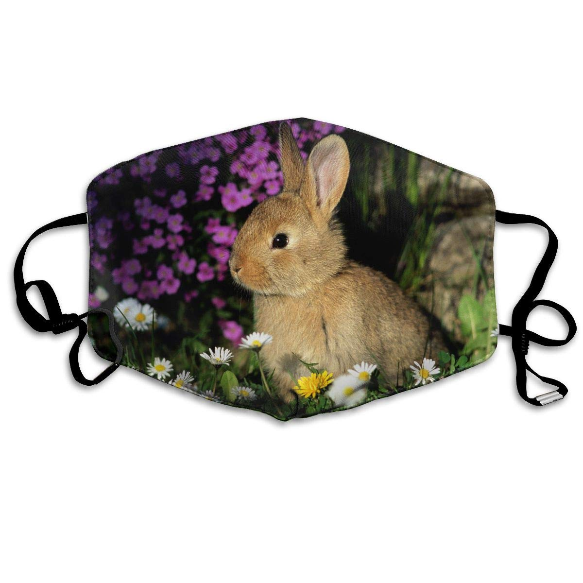 Polyester Anti-dust Mouth Mask - Cute Rabbit Bunny Art Washed Reusable Mouth-Muffle - Fashion Printed Face Masks For Outdoor