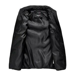 Image 2 - 2020 yelek jile Homme yelek Mens kış kolsuz ceket erkekler aşağı yelek erkek sıcak kalın kapşonlu palto erkek pamuk dolgulu