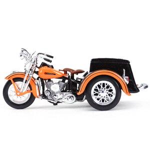 Image 4 - Maisto 1:18 1947 Servi Auto Moto sidecar Pressofuso In Lega Modello di Moto Giocattolo