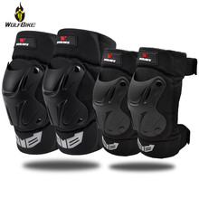 WOSAWE 1Pair Adult Tactical Motorcycle Protective Knee Pads PE Shell Shockproof Roller Snowboard Sports Protector Ski Kneepad