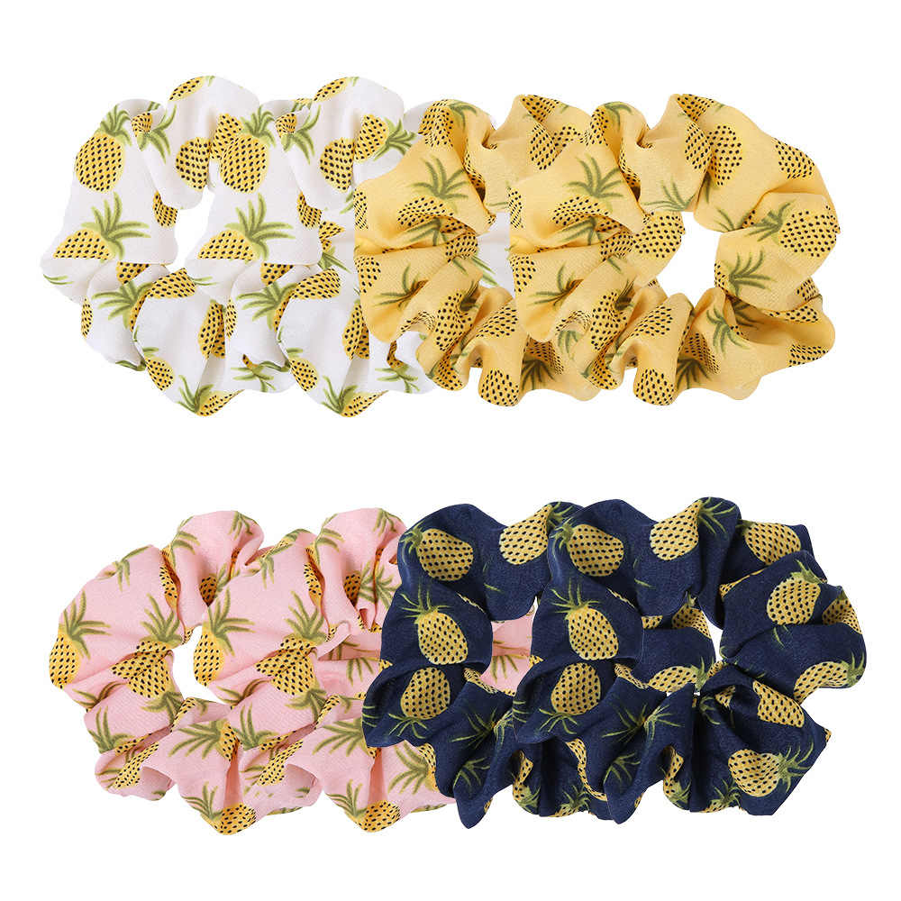 1/4/8 Pcs Hair Scrunchie Pack Women Cute Lovely Sweet Big Nylon Elastic Hair Band Girl Headwear Rubber Clip Ties Ponytail Holder