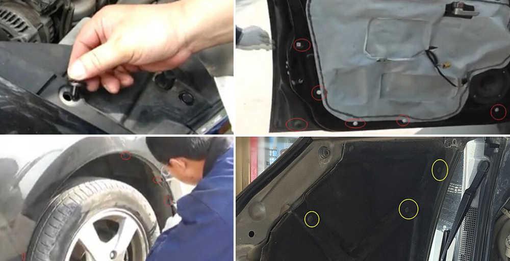 50 adet karışık oto Fastener araba tampon klip Hyundai Azera için Equus Genesis Santa Fe