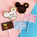 Микки и Минни Маус Мышь Baby Shower вечерние флажок для торта торт кекс ToppersGirls День рождения вечерние украшения Anniversaire; Аксессуары для тортов