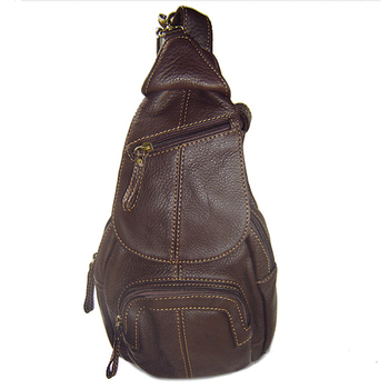 fashion Genuine Leather Shoulder bag Men Leather Messenger Bag Men Crossbody bag Leisure Bag sling Male small chest pack Brown qibolu genuine leather mens sling bag single shoulder bag men chest pack messenger crossbody bag for man bolsas masculina mba37