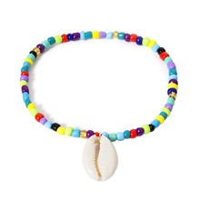 Handmade Bohemian Shell Romantic Classic Charm Beads Anklets For Women Colorful Summer Beach Beaded Anklet Feet Bracelet Jewel(China)
