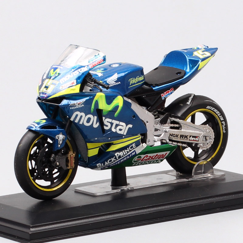 1/22 Scale Mini Italeri Honda RC211V 2005 No#15 S.Gibernau Movistar Moto Racing Motorcycle Diecast Vehicle Model GP Bike Toy Boy