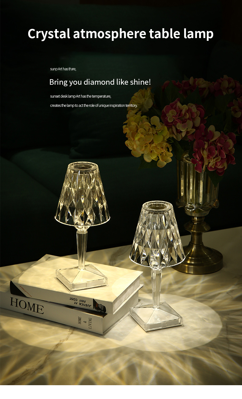 luz para barra quarto cabeceira café cristal