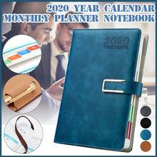 Agenda 2020 Monthly Planner Traveler Diary Luxury Business PU Leather Notebook Back To School Notepad Plan Organizer Books